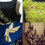 22 Graceful Pics of Simple Thread Work Blouse & Saree Designs