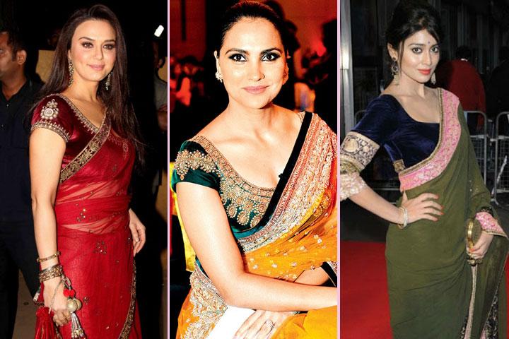 25 Gorgeous Pics of  velvet blouse designs