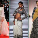20 Amazing Pics of Western Look Sarees Designs