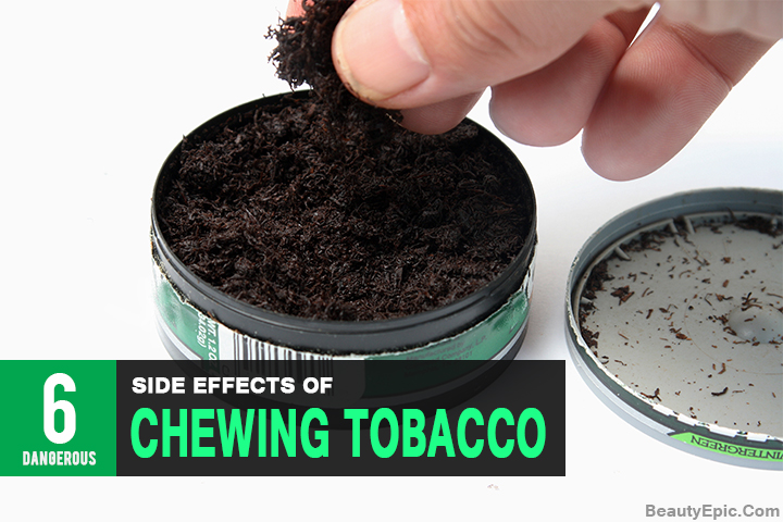effects of tobacco Is chewing tobacco safer than smoking there's a lot of opposing information out there, but tobacco chewing carries a lot of risks.