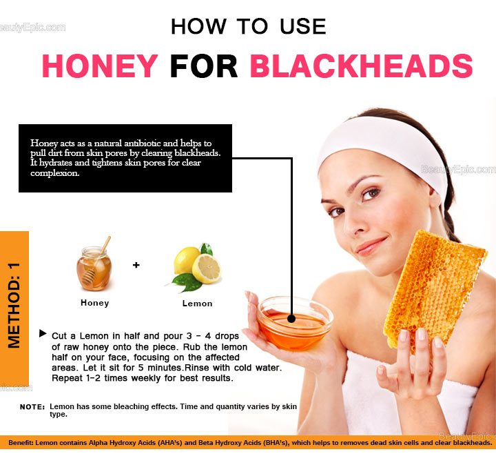 honey and lemon for blackheads