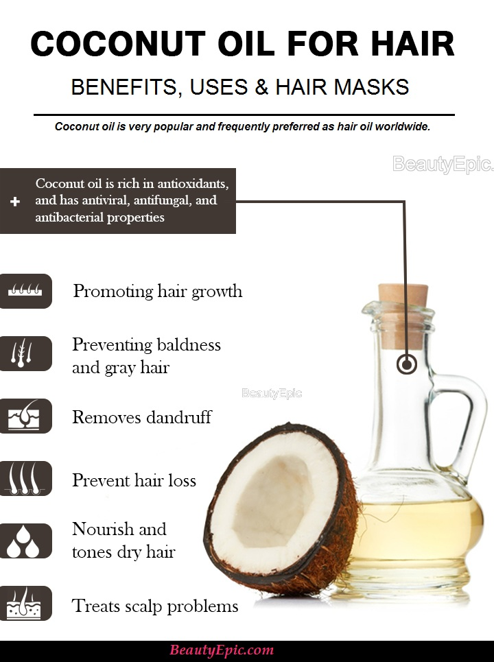 Coconut Oil For Hair Benefits Uses And Hair Masks