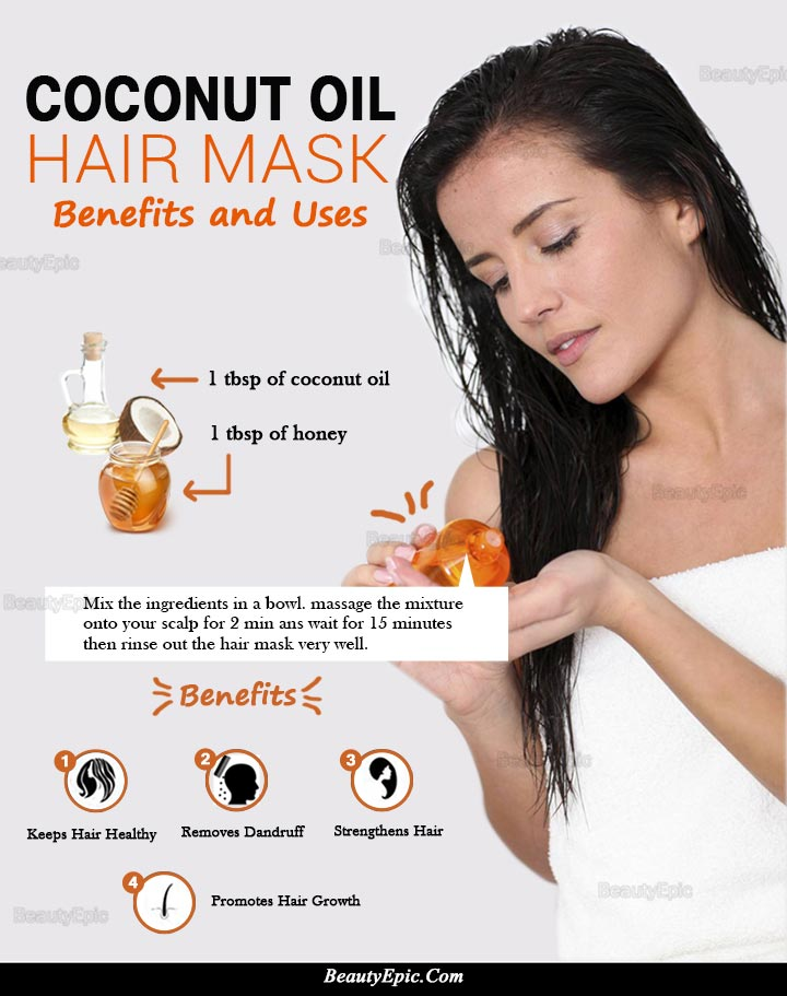 Coconut Oil Hair Mask Its Benefits Uses Amp Hair Masks