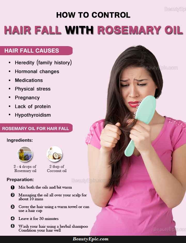How To Control Hair Fall With Rosemary Oil