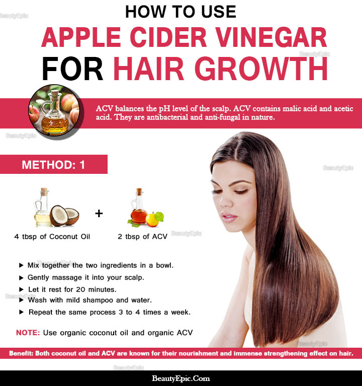 apple cider vinegar and coconut oil  for hair growth