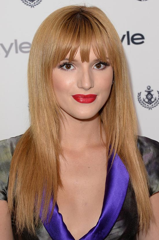Bella Thorne Bangs Blonde Hair