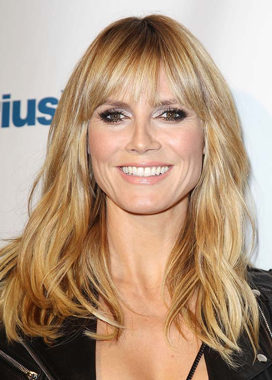 Heidi Klum Long Blonde Hair with Bangs