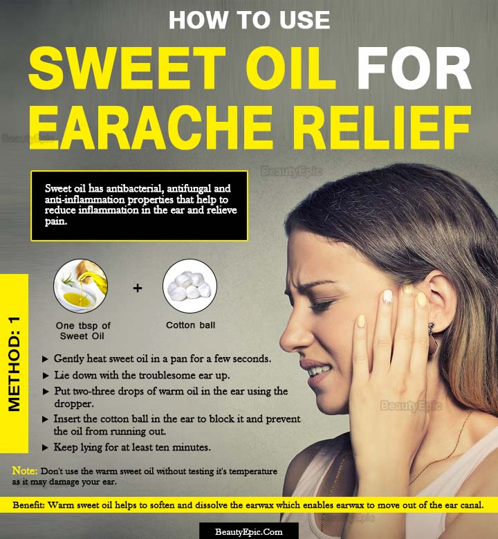 sweet oil for earache