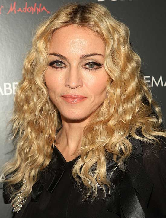 Madonna Curly Hairstyle