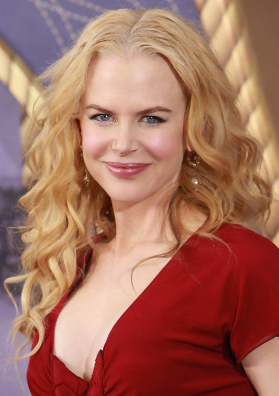Nicole Kidman Long Blonde Curly Hair
