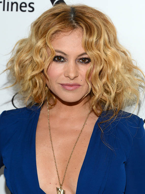 Paulina Rubio Short Curly Blonde Hair