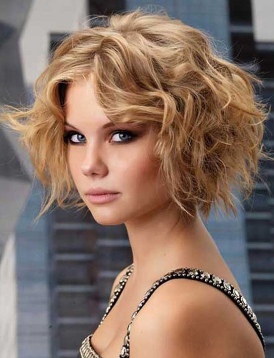 short hair curly hairstyle