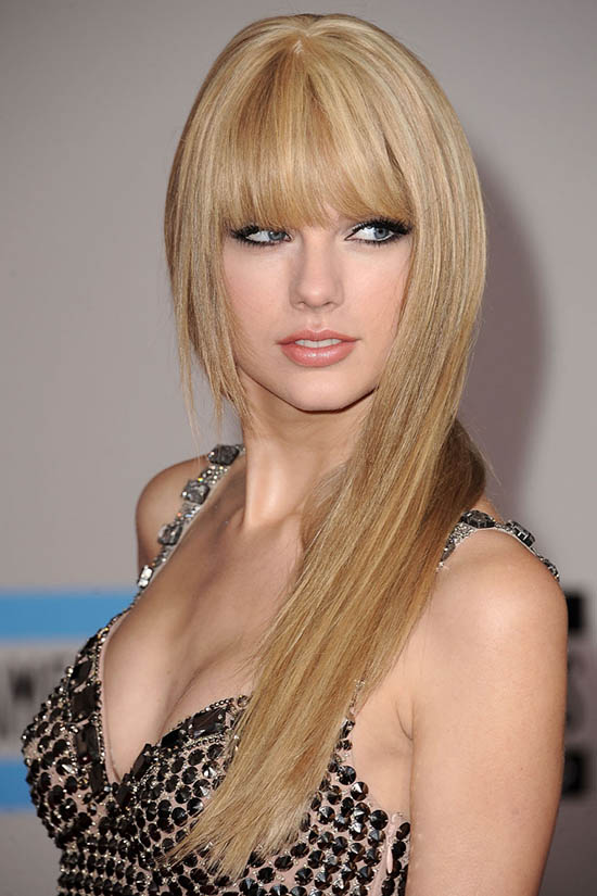 Taylor Swift Long Blonde Hair with Front Bangs