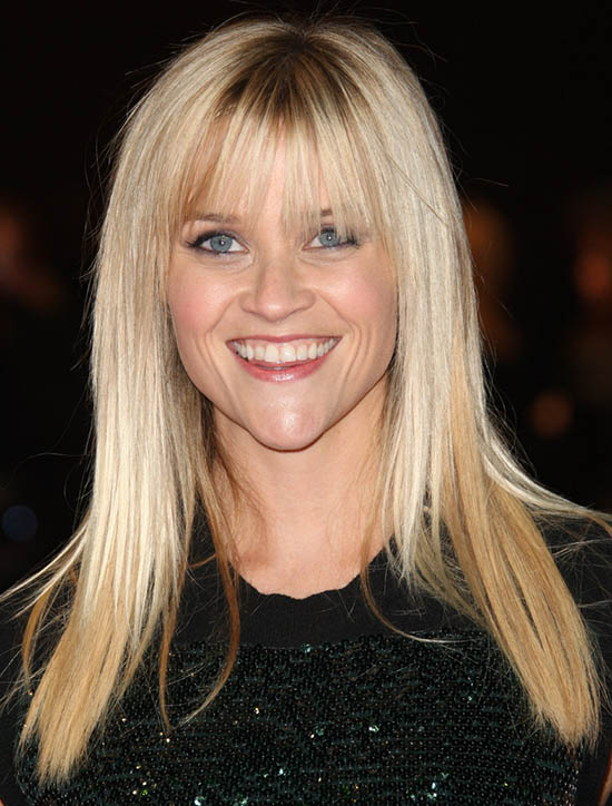 reese witherspoon Blonde Hair with Bangs
