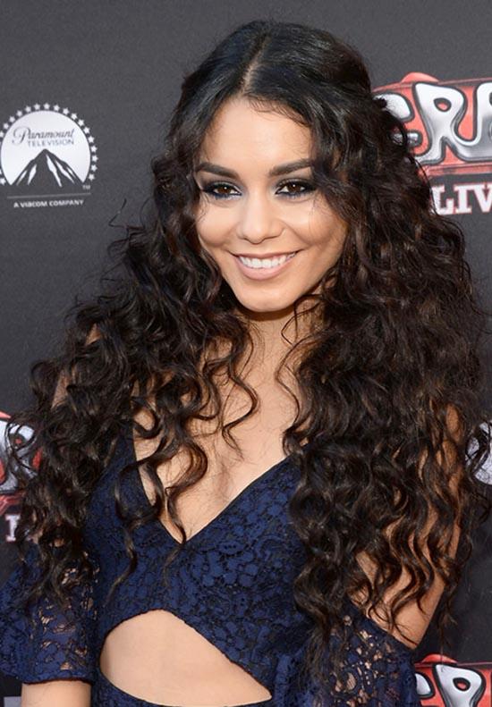 vanessa hudgens curly hair