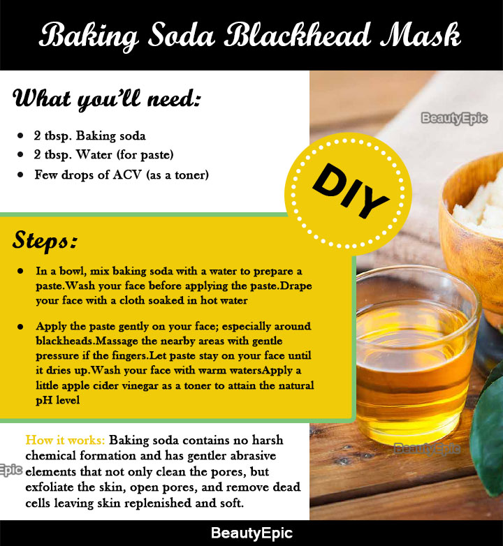 baking soda blackhead removal mask