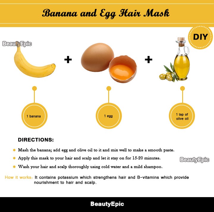 banana and egg hair mask
