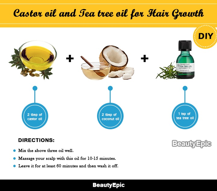 castor oil and tea tree oil for hair growth