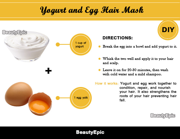 egg and yogurt hair mask