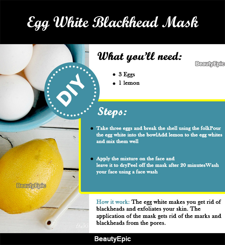 egg white blackhead removal mask
