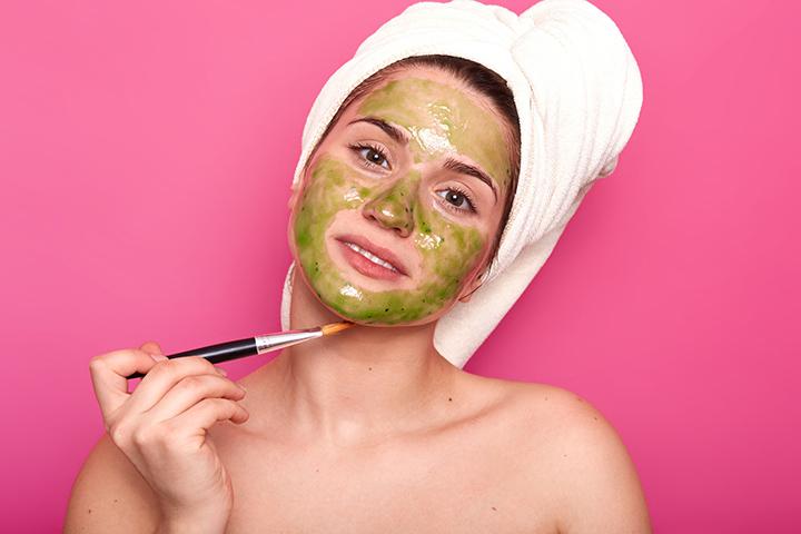 homemade green tea mask