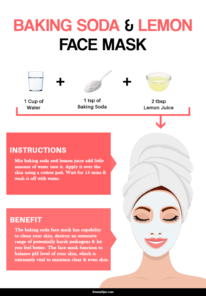baking soda and lemon face mask