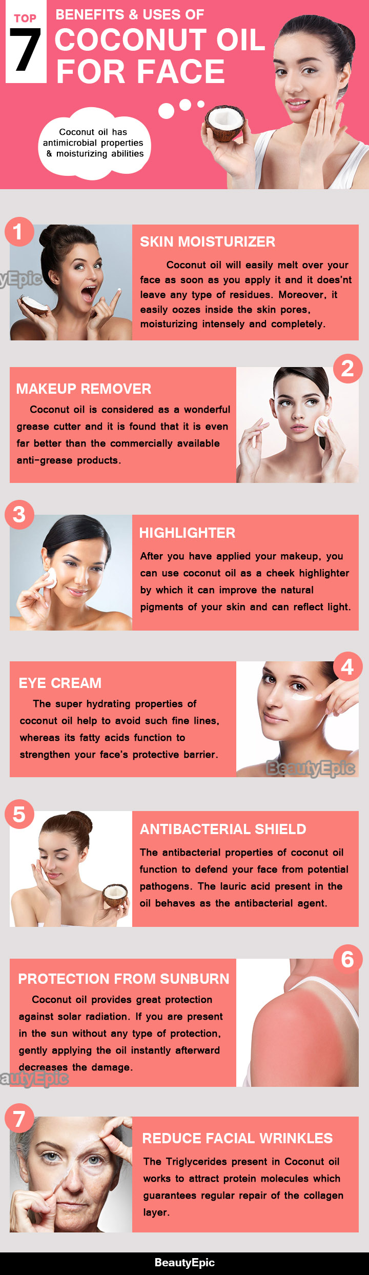 benefits of coconut oil for face