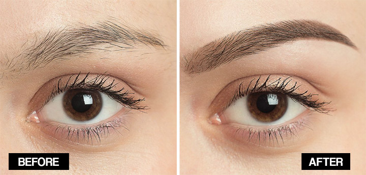 vaseline for eyebrows before and after
