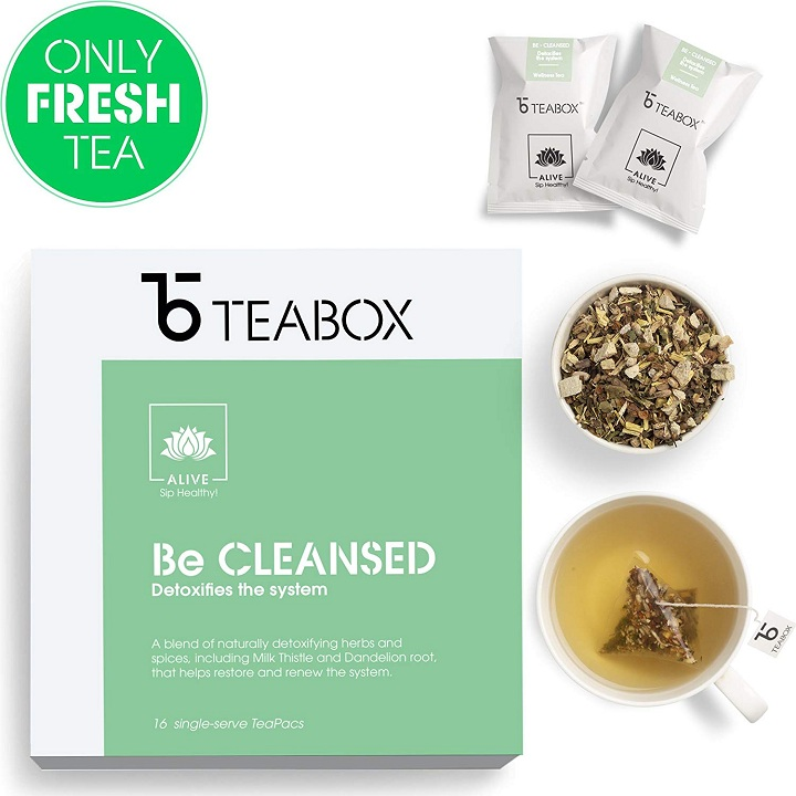 Teabox Detox Herbal Tea 40 Grams 16 Teapac Teabags