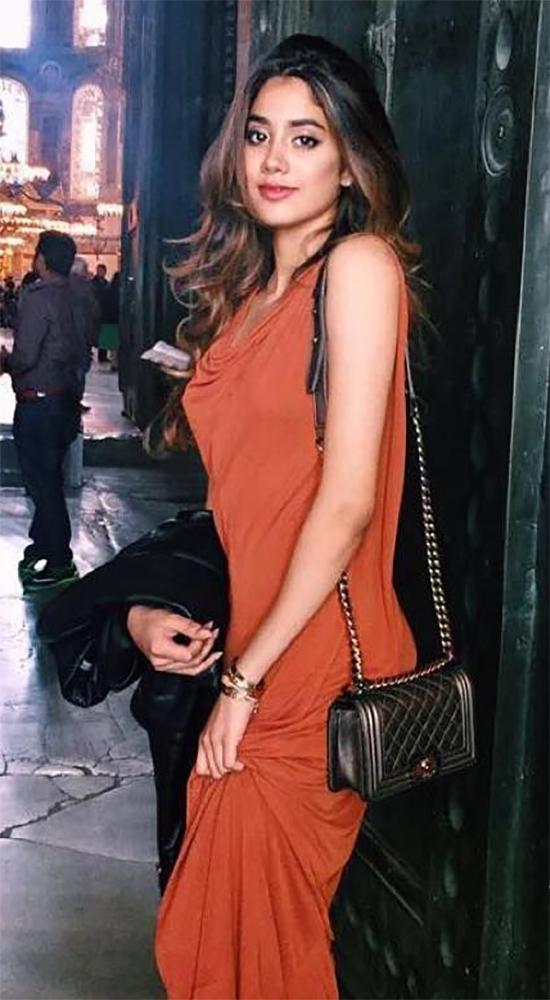 Janhvi Kapoor In Orange Dress