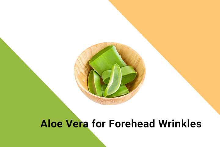 aloe vera for forehead wrinkles