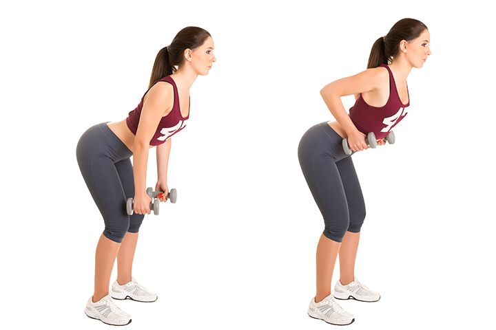bent over row for back fat