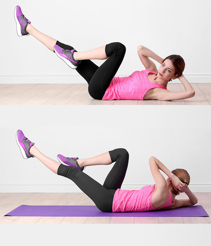 bicycle crunches for smaller waist