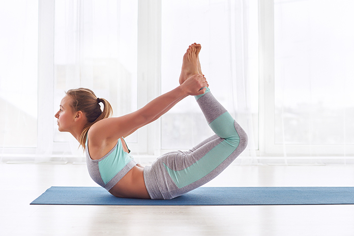 bow pose for abs