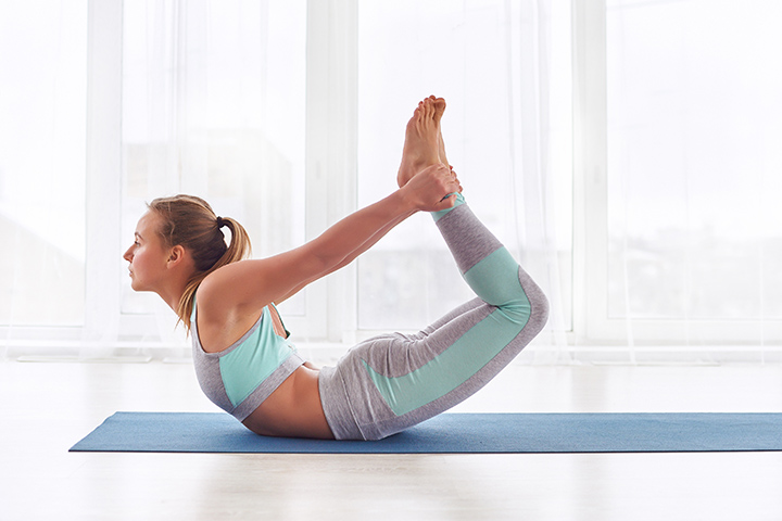 bow pose for fat burn