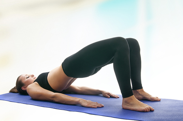 bridge pose for migraine
