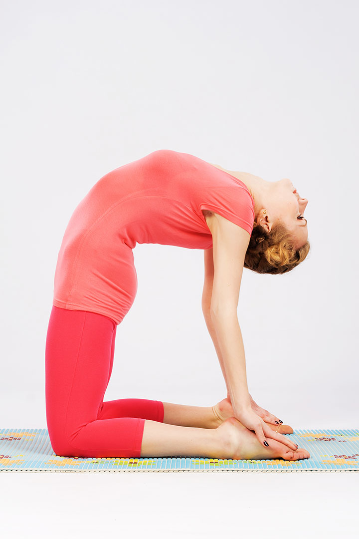 camel pose anxiety