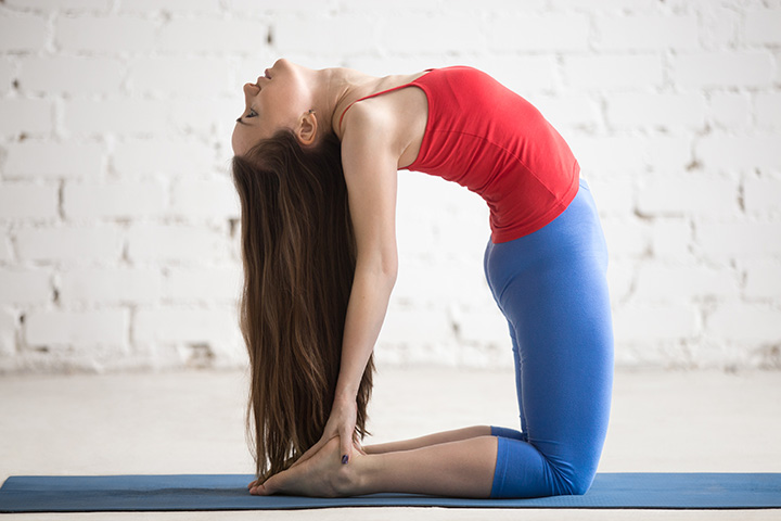 camel pose to increase breast size