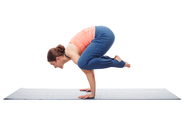 crow pose for strong core