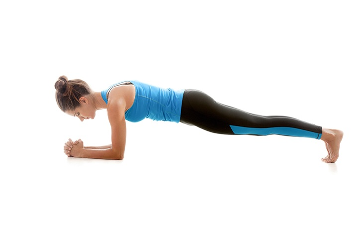 dolphin plank pose for strong core