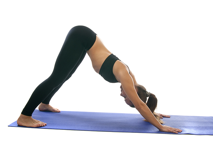 downward dog pose for migraine