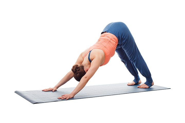 downward facing dog for abs