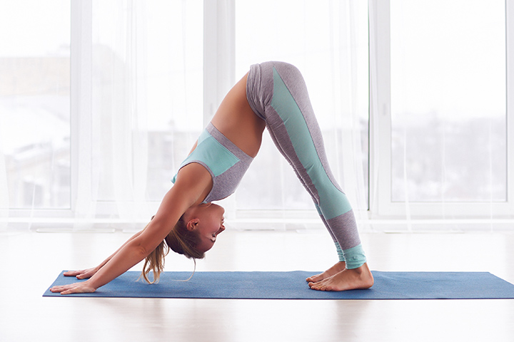 downward facing dog for fat burn