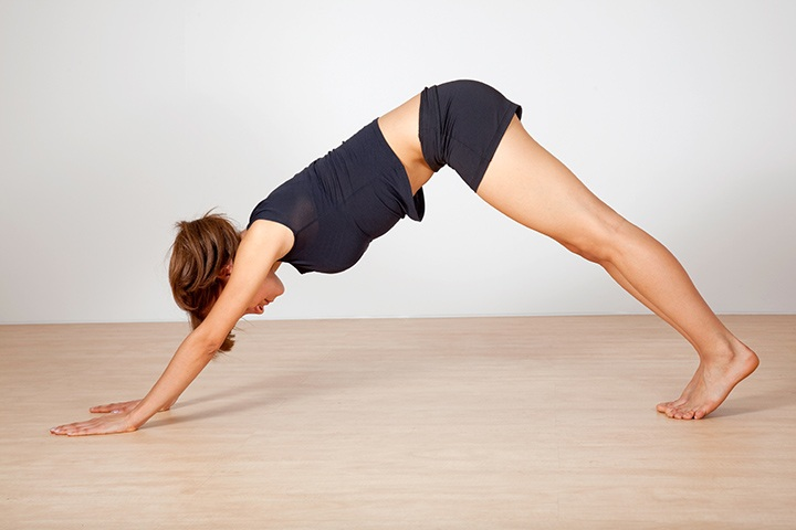 downward facing pose for sinus relief