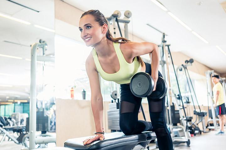 dumbbell exercises for back fat