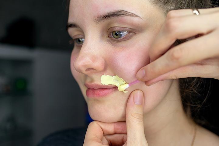 egg white facial hair removal mask