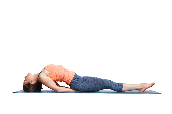 fish pose for abs