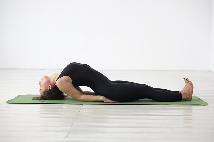 fish pose for sinus relief