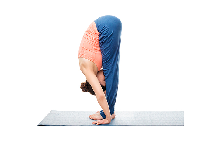 forward bend pose for varicose veins