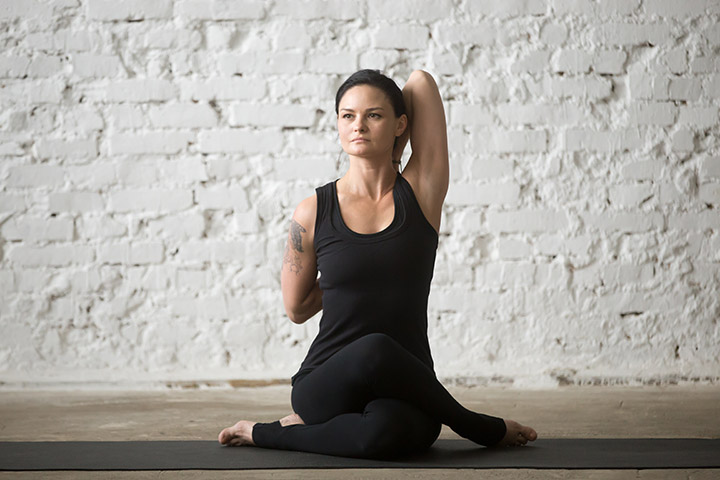 gomukhasana for shoulders